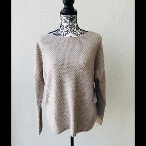 😍 NWT Lord&taylor beige oversized sweater M
